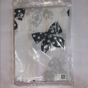 H&M Black Polka Dot Bow Printed Shower Curtain